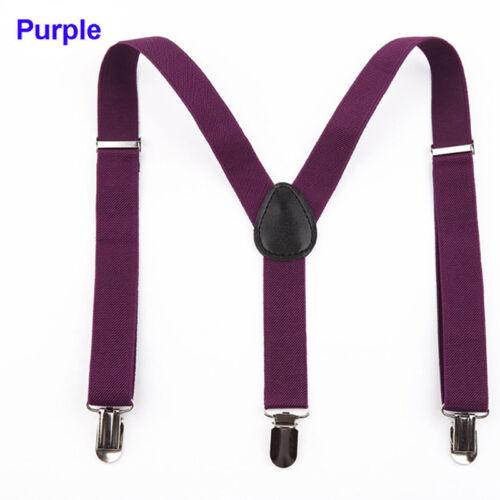 Vintage Men/'s Adjustable Unisex Suspenders Braces Casual Dress Formal