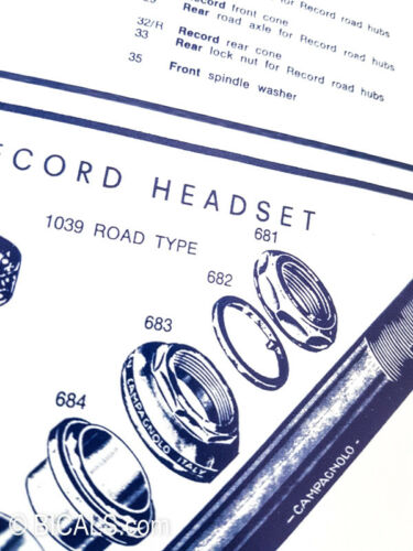 Campagnolo Record Nuovo Record groupset poster 1973