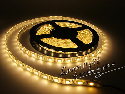 3528 5050 5630 SMD 5M White RGB 300 Waterproof LED Flexible Strip Light IR Power