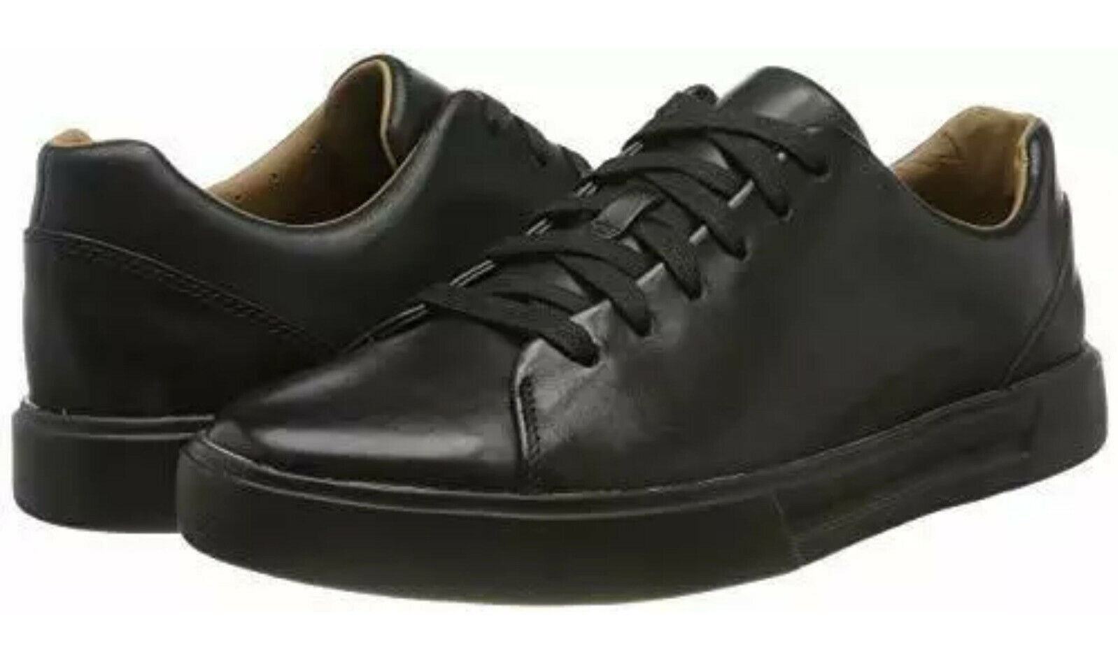 Unstructured Clarks UK 6 /39.5 Un Costa Lace Casual Shoes Black leather BOXED