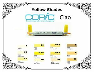 Copic-Ciao-Markers-Yellow-Shades-Refillable-With-Copic-Various-Inks
