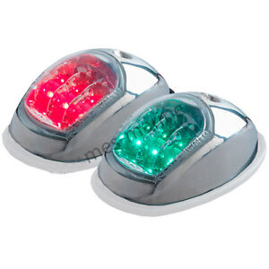 LED-Port-and-Starboard-Nav-Boat-12v-Navigation-Lights-Stainless-Steel