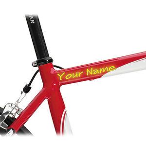 CUSTOM MADE BIKE FRAME STICKERS WITH YOUR NAME DECAL EBay - Custom bike stickers