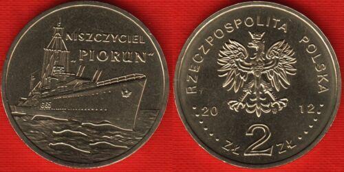 "/""Piorun/"" Destroyer/"" UNC Poland 2 zlote 2012 /""Polish Ships"