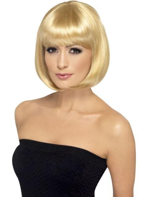 Short Dark Blonde Bob Wig, Partyrama wig, 12 inch, With Fringe, Fancy Dress