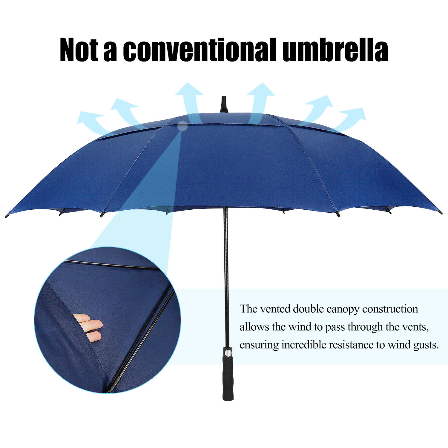 UBDLE Umbrella Windproof Large Double Canopy Vented Extra Large Stick Umbrellas for Men and Women Color : Red