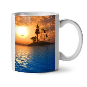 Ocean Island Sun Nature NEW White Tea Coffee Mug 11 oz | Wellcoda