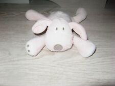 peluche doudou chien rose blanc coquard 17 cm obaibi