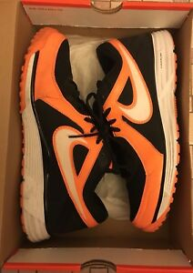 timeless design e2624 ca6c7 Image is loading Nike-Lunar-Mvp-Pregame-Black-White-TT-Orange-