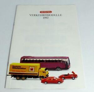 WIKING-verkehrsmodelle-von-1992-Brochure-Camion-Auto-Bus-accessori
