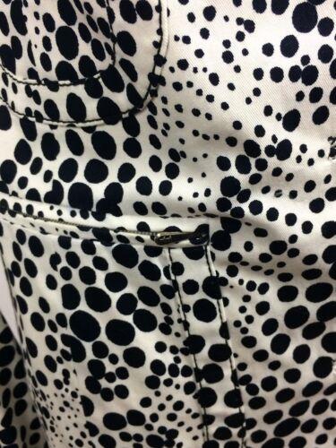 Hvid Størrelse Xs Knap Tuleh Polka Dot Sort Bomuld Print For Frakke PSfzfq5w