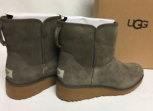 3590d04c39ff Image is loading UGG-Australia-Kristin-Mini-Suede-Ankle-Shearling-Boots-