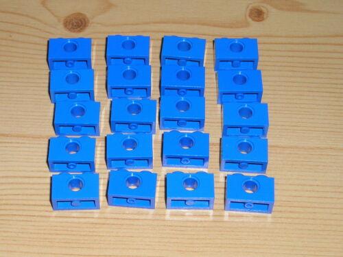 Lego 20 x Technik Lochbalken 1x2 blau 3700 Lochstein