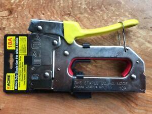 Acme Staple 654018b 18a Staple Gun With Bottom Load Magazine For