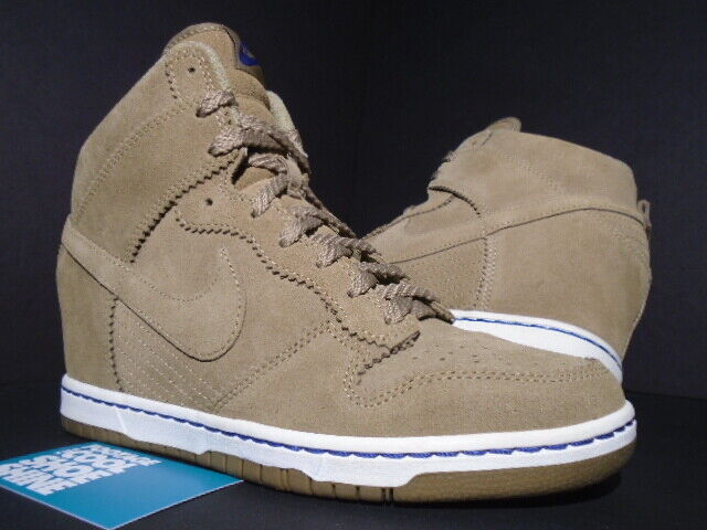 337bdae6f0 WOMEN 2012 NIKE DUNK SKY HI FILBERT BROWN SAIL WHITE BAMBOO blueE  528899-201 9 nobuzy2131-Athletic Shoes