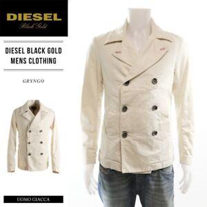 550-Diesel-Black-Gold-Mens-Gryngo-Jacket-Italy-Denim-Blazer-Sportcoat-S-36-38