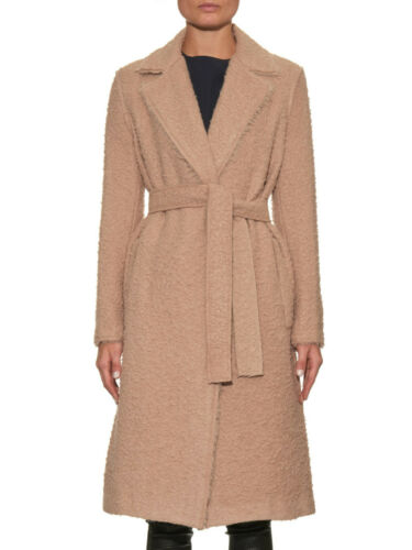 $2,000 Helmut Lang Shaggy Alpaca Wool Camel Coat With Tie Belt Size Small New by Helmut Lang