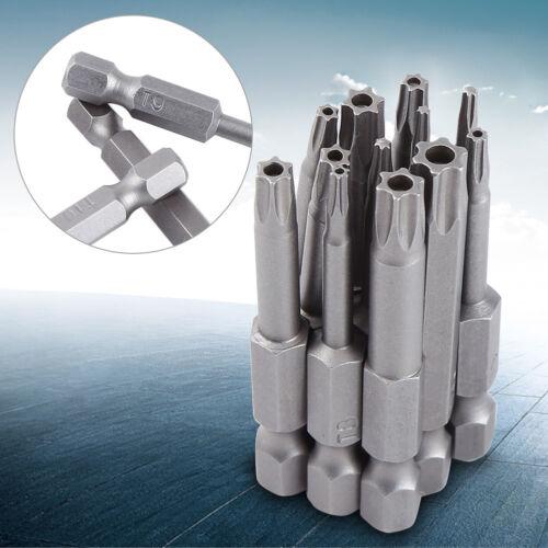 12-tlg 50mm 1//4 Hex Sternkopf Biteinsatz Schrauber Bits Magnetische T5-T40 Satz❤