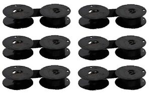 6x-Farbband-Gruppe-1-Nylon-schwarz-13mm-Triumph-Adler-Olympia-Olivetti-DIN-32755