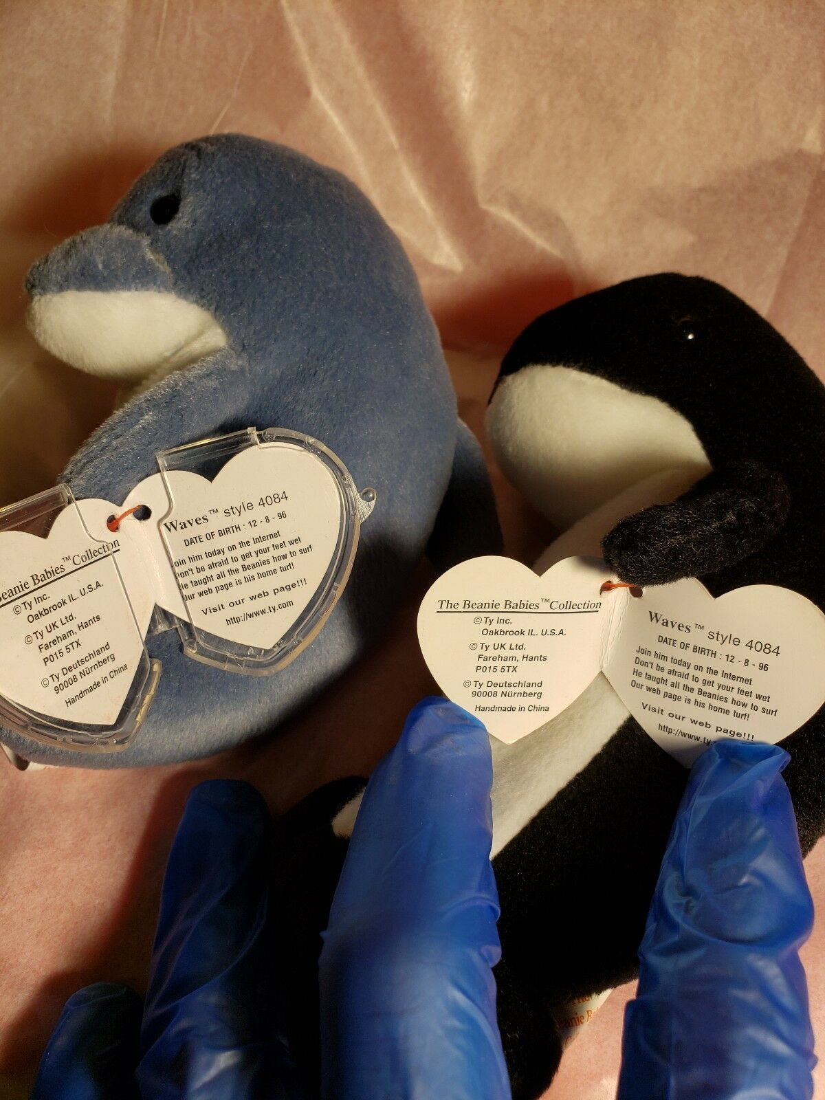 9cdefff250b Ty Beanie Babies - Echo The Dolphin With Waves Tags for sale online ...