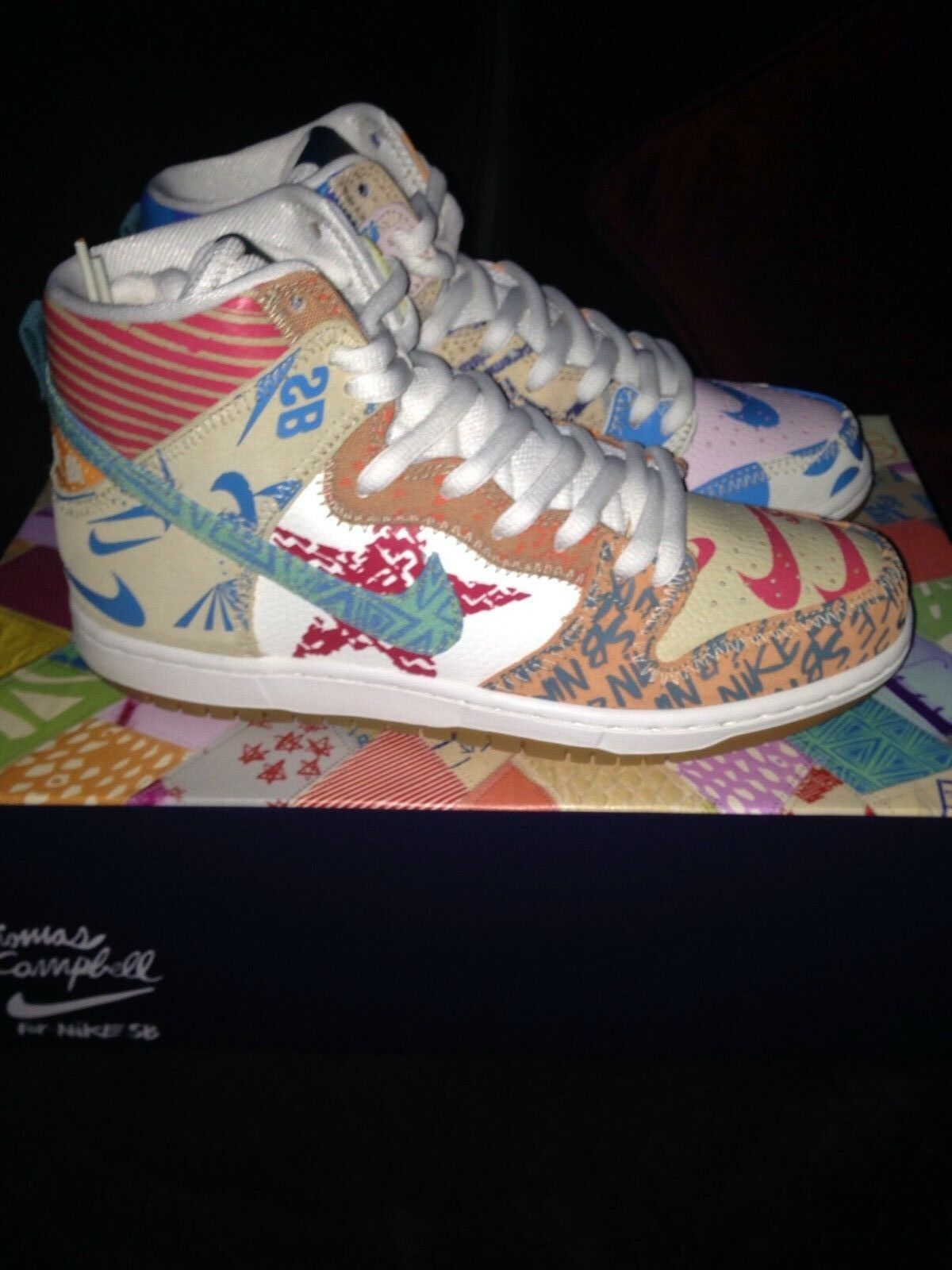 Nike SB Dunk High Premium Thomas Campbell What The Dunk Size 8