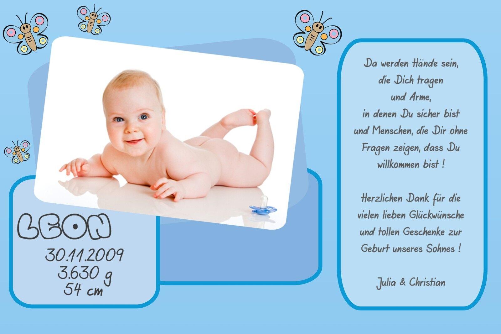 Danksagung Karte Geburt Baby Danksagungskarten individuell persönlich gb_34   | Sonderangebot  | Erste Klasse in seiner Klasse
