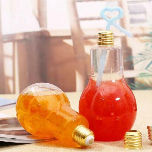 Kunststoff Glühbirne geformte Flasche Drink Cup Wasserflasche Party Deco Ho X1Z1