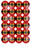 Countdown-to-Christmas-Numbers-Advent-Calendar-Sticker-Present-Chocolate-Coin thumbnail 1