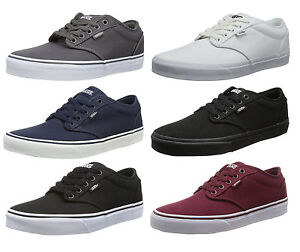VANS-Atwood-Canvas-Fashion-Skater-Shoes-Plimsolls-Grey-Navy-Black-White-Trainers
