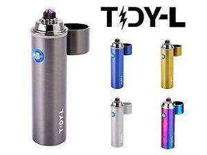 TIDY-L-ELEKTRO-FEUERZEUG-ARC-PLASMA-ELEKTRISCHES-USB-PULS-STURM-LICHTBOGEN-FEUER