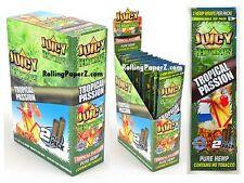 FULL BOX of 25 Packs(2 per pack) JUICY HEMP WRAPS - TROPICAL PASSION Flavored