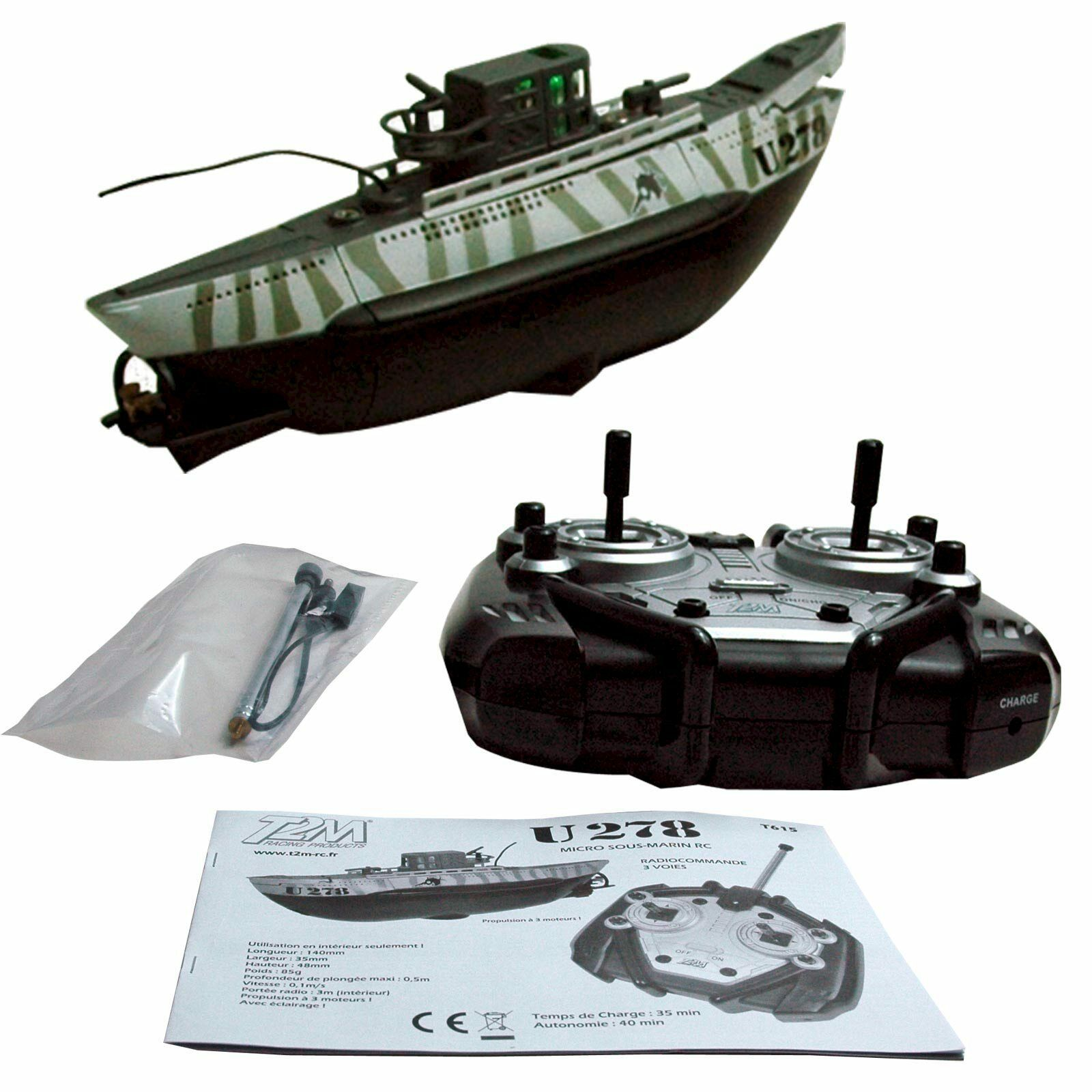 Radio Controlled U Boat U278 Von T2M with Lighting