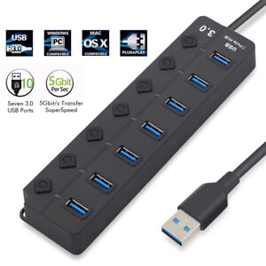 AUGIENB-7-Ports-USB-3-0-Charging-Hub-High-Speed-Adapter-Charging-For-Laptop-PC