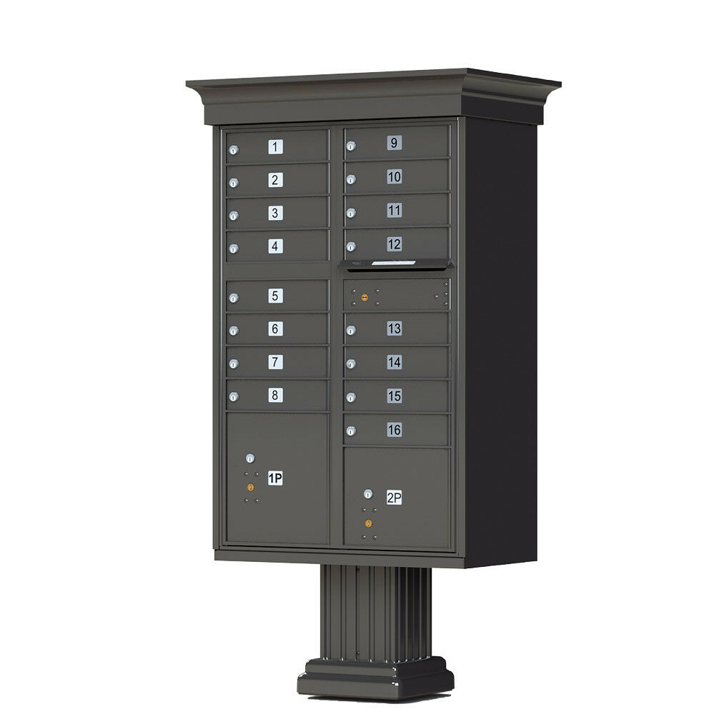 16 Door Florence Vogue Decorative Cluster Box Unit - Free Shipping & Engraving