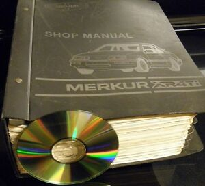merkur xr4ti shop manual cd service repair 1985 1989 evtm rh ebay com wiring diagram 1989 mercury 70 hp outboard Merkur Scorpio Interior