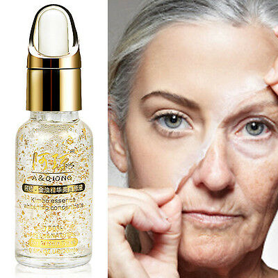24K Gold Pure Foil Essence Oil Face Lift Whitening Moisturizing Anti-Aging Serum