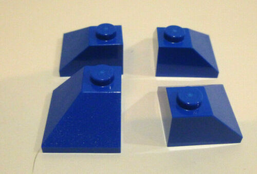 4 x LEGO® 3045 System,blaue Dachsteine First Außenecke in 2x2// 45°Neuware