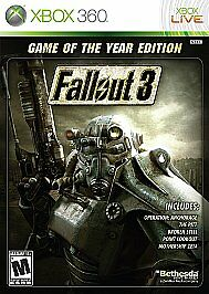 Fallout 3 -- Game Of The Year Edition Microsoft Xbox 360, 2009  - $5.00