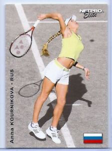 ANNA-KOURNIKOVA-2003-034-1ST-EVER-PRINTED-034-NETPRO-ELITE-ROOKIE-CARD-E4-serving