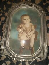 "Antique Gray/Silver Wood Frame 20""L x 13""W"