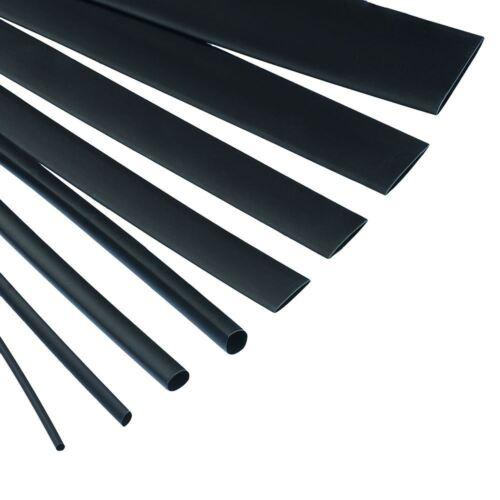 BLACK calore Strizzacervelli Tubazione Manicotto 2:1 rapporto Heatshrink