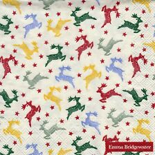 DECOUPAGE /& CRAFTING X-MAS RUDOLF REINDEER for TABLE 4 x  PAPER NAPKINS