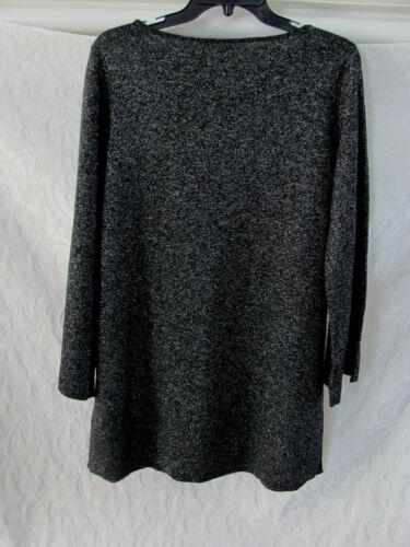 black M nwt 258 Eileen 3 Neck Sweater 4 Shimmer sze maniche Fisher Bateau merino RqfRw6z