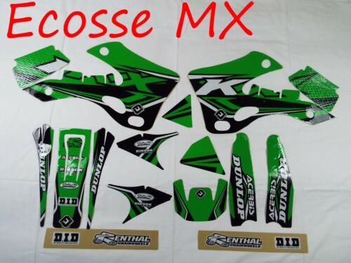Fits Kawasaki KX125 KX250 1999-2002 NEW FLU Graphics Decals Stickers