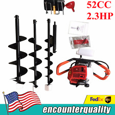 23hp Gas Powered Earth Auger Power Engine Post Hole Digger Earth Burrowingdril