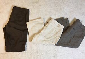 30 Waist Izod Lot Of 3 Bright In Colour Mixed Items & Lots Beautiful Banana Republic Capris Pants Shorts Women Size 2/4