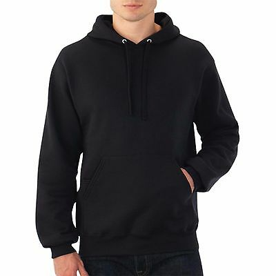 Hooded Plain Black Sweatshirt Men Women Pullover Hoodie Fleece Cotton Blank New