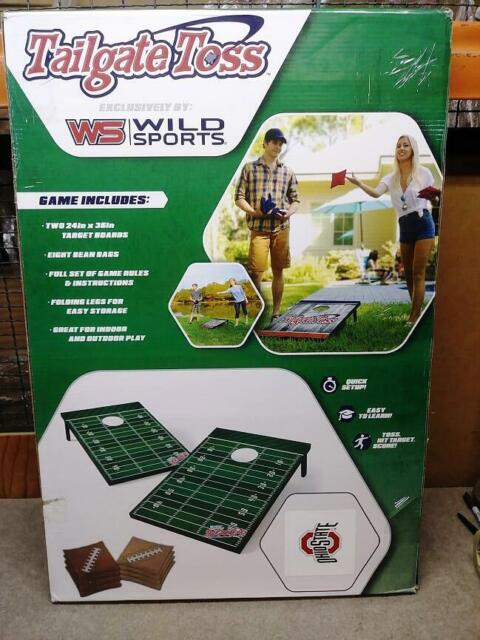 Wild Sports NCAA 2 x 3 Football Field Cornhole Bag Toss Game