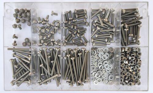 5 in acciaio inox a2 500 pezzi Assortimento viti lenti Din 7985 viti Torx m2