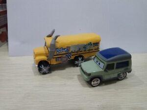 Disney-Pixar-Cars-3-Miss-Fritter-amp-Miles-Axlerod-Dieca-Toy-1-55-New